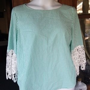 Liz Claiborne....green and white striped...WOWSER